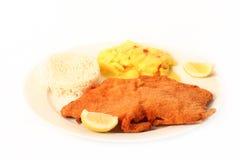 schnitzel венский Стоковая Фотография