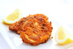 schnitzel зажаренный цыпленком Стоковые Изображения
