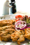 schnitzel цыпленка стоковое фото