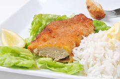 schnitzel цыпленка Стоковое фото RF