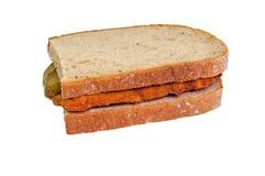 Schnitzel in Bread Royalty Free Stock Photography