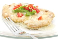 Schnitzel with Butter Sauce Royalty Free Stock Photos
