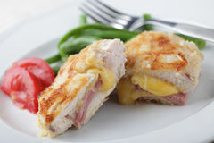Schnitzel Cordon bleu Royalty Free Stock Photo