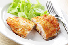 Schnitzel Cordon blue Royalty Free Stock Photos