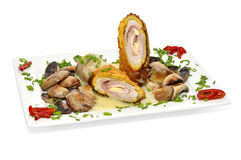 Schnitzel Cordon blue Stock Images