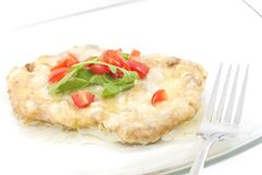 Schnitzel with Creamy Sauce Royalty Free Stock Photo