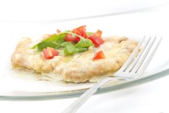 Schnitzel with Creamy Sauce Stock Photography