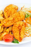 Schnitzel da galinha Fotos de Stock