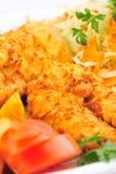Schnitzel da galinha imagens de stock