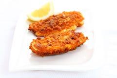 Schnitzel da galinha fritada Imagem de Stock Royalty Free