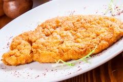 Schnitzel de poulet Image stock