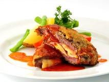 Schnitzel de salchicha de Francfort   Foto de archivo
