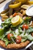 Schnitzel de salchicha de Francfort Imagen de archivo