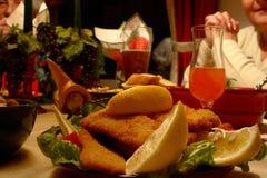 Schnitzel de saucisse Photographie stock