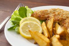 Schnitzel de saucisse Photo stock