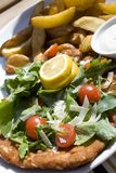 Schnitzel de saucisse Image stock