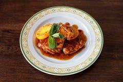 Schnitzel del pollo Fotografia Stock