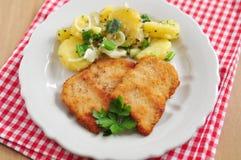 Schnitzel des Wiener Würstchens Lizenzfreies Stockfoto