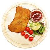 Schnitzel eller escalope Fotografering för Bildbyråer