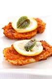 Schnitzel panado da galinha Fotografia de Stock