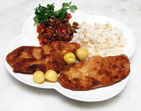 Schnitzel plate Stock Photos