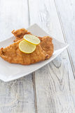 Schnitzel on a Plate Royalty Free Stock Images