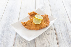 Schnitzel on a Plate Stock Image
