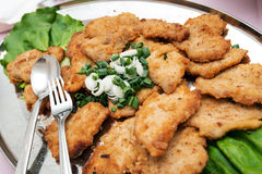 Schnitzel platter Royalty Free Stock Images