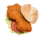 Schnitzel on roll Royalty Free Stock Photography