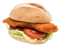 Schnitzel on roll Stock Images