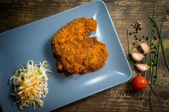 Schnitzel - top view Royalty Free Stock Photo