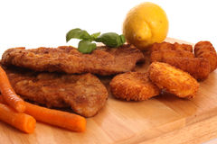 Schnitzel in the Studio Royalty Free Stock Photos
