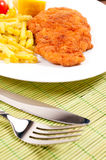 Schnitzel time Stock Photo