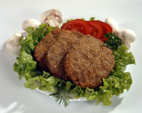 Schnitzel with vegetables Royalty Free Stock Photo