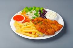 Schnitzel With Potato Stock Photos