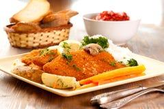Schnitzels de saucisse Image libre de droits