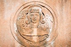 Schnitzen des Details über Dreifaltigkeitskirche in Boston Stockbild