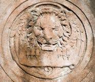 Schnitzen des Details über Dreifaltigkeitskirche in Boston Lizenzfreies Stockbild