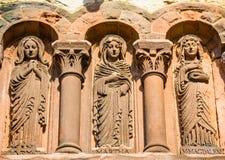 Schnitzen des Details über Dreifaltigkeitskirche in Boston Stockbilder