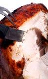 Schnitzen eines Truthahns stockfoto