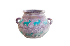 Schnitzen Sie alten Vase Lizenzfreie Stockbilder