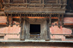 Schnitzen von Hanuman Dhoka an Quadrat Nepal Kathmandus Durbar Stockbild