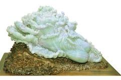 Schnitzende Jade, chinesisches Handwerk Lizenzfreie Stockbilder