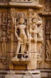 Schnitzte sch?n Idole, den Jain Tempel, aufgestellt im Fortkomplex, Jaisalmer, Rajasthan, Indien lizenzfreie stockbilder