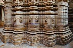 Schnitzte sch?n Idole, den Jain Tempel, aufgestellt im Fortkomplex, Jaisalmer, Rajasthan, Indien stockbild