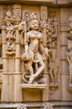 Schnitzte sch?n Idole, den Jain Tempel, aufgestellt im Fortkomplex, Jaisalmer, Rajasthan, Indien lizenzfreie stockfotografie
