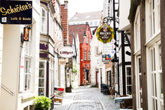 Schnoor – the oldest street in Bremen, Germany Royalty Free Stock Image
