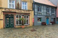Schnoorkwart in Bremen Royalty-vrije Stock Afbeeldingen