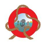 Schnorcheln der Kraken-Familie lizenzfreie abbildung