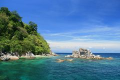 Schnorchelnder Punkt in Tarutao Insel Stockbild